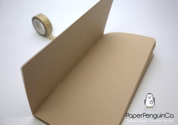 Midori Insert Kraft Brown Paper MTN Travelers Notebook Black Brown Regular Wide B6 Personal A6 Pocket Field Notes Passport / Bullet Journal