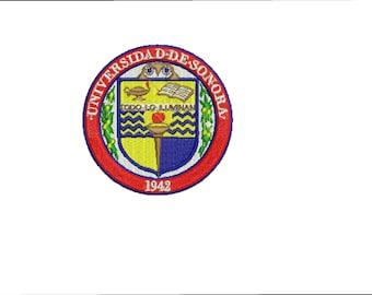 Sonora University, UNISON, universidad de Sonora, embroidery design, file, ponchado,sonora