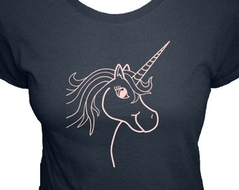 Unicorn Shirt - Womens Shirt - Available in 4 Colors - Womens Organic Bamboo and Cotton T Shirt - Gift Friendly