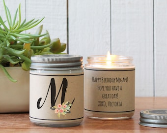 Monogram Gift | Scented Soy Candle Gift | Monogram Candle | Best Friend Gift | Sister Gift | Gift for Mom | Gift for Her | Bridesmaid Gift