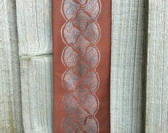 Bronze Tie - Skinny Vintage Tie - Alpi Tie - Men's Skinny Tie - Men's Bronze Tie - Vintage Bronze Necktie - Skinny Necktie