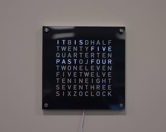 26cm Square Word Clock