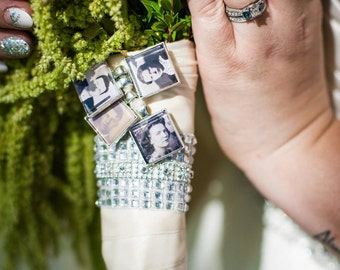 20mm or 25mm Square Photo Charm, wedding bouquet charm, small charm, medium charm, large charm, Assorted sizes, custom charm, picture charm