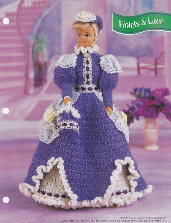 Veilchen & Lace Annie-attischen Mode Puppe Kleidung häkeln
