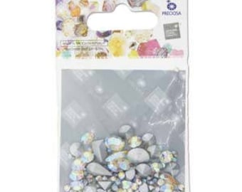 free UK postage - 5 grams Preciosa Chaton Mix Crystal AB