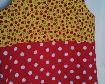 Red and White Polka Dot, Red and Yellow Floral Jumper
