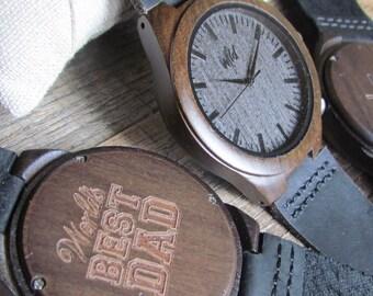 FREE Engraving, Wood Watch, personalized watch, engraved watch, Mens watch, Groomsmen gift, custom wooden watch, personalized gift, DR219