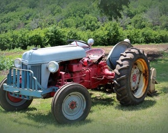 Ford Tractor - Tractor - Tractor Photography - Vintage Farm Photo - Fine Art Photography - Rural