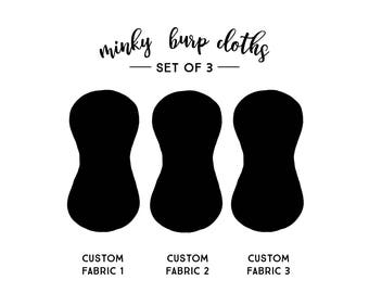 Burp Cloths Custom Set of Three. Baby Gift. Baby Shower Gift. Burp Cloth. Burp Rag. Baby Essentials.