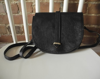Vintage leather handbag // Made in Italy