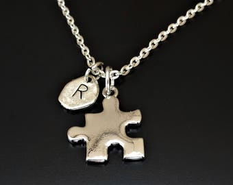 Autism Necklace, Autism Jewelry, Autism Awareness Necklace, Autism Gift, Autism Teacher Gift, Autism Acceptance, Aspergers, Autism Puzzle
