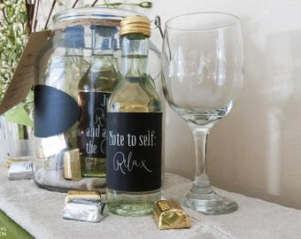 Relax Mini Wine Labels and Gift Tag