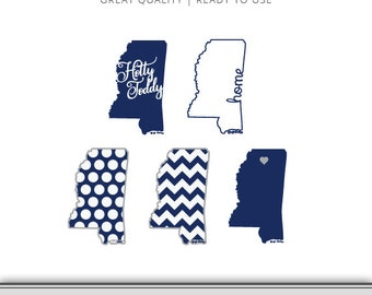 Mississippi Ole Miss Graphic Pack - Digital Download - Hotty Toddy SVG - Cut Files - Mississippi SVG - Ole Miss SVG - Rebels Ready to Use!