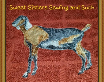 Nubian goat kitchen towel