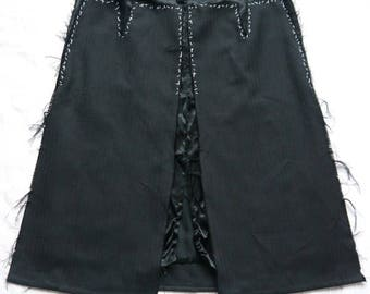 vintage style punk goth skirt for reconstruction