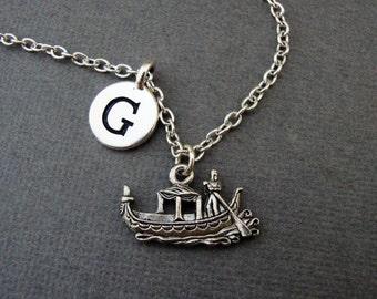 Gondola Necklace, Gondola Ride Keychain Keyring, Venice Italy Gondolier Bangle Bracelet, Europoean Italian Vacation Memory Necklace