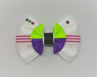 Buzz Lightyear Inspired Hair Bow | Toy Story Inspired Hair Bow | Disney Inspired Hair Bow | Disney Pixar Inspired Hair Bow