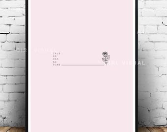 Beauty and the beast print, Disney princess inspired, Beauty and the beast wall decor, Minimal pink wall art, Pink princess prints wall art