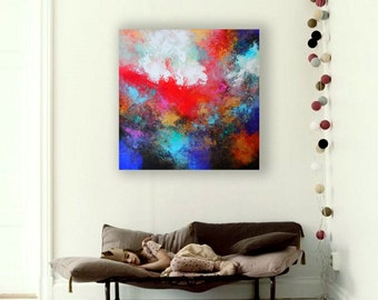 abstract acrylic painting /  Contemporary ART by Alex Senchenko / modern original wall art / original painting on canvas / abstract painting