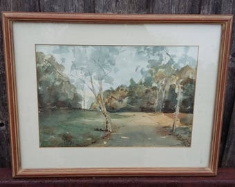 Original Vintage Watercolour Dollis Brook Finchley