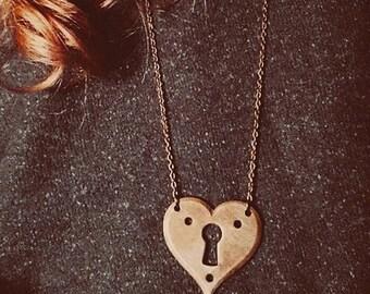 Heart Lock Pendant