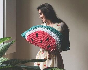Crochet Watermelon Pillow