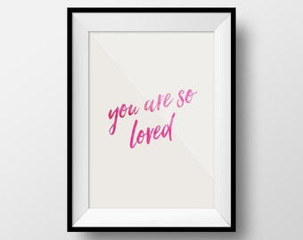 You Are So Loved, Loved Baby Art, Baby Nursery Art, Nursery Wall, Baby Art, Baby Boy Art, Baby Girl Art