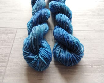 Something Blue - Hand Dyed Mini Skein of merino sock yarn