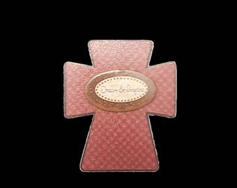 Dream And Inspire Decorative Wooden Cross Magnet