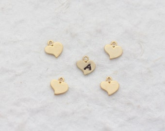 Add gold plated heart with Initial of your choice, to your necklace or bracelet.