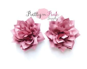 Dusty Rose Kanzashi Flower- You Choose Quantity- DIY Headband Supplies- Flower- Wholesale- By the Piece- Supply Shop- Applique- Prettyinpink