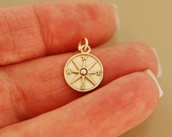 14 Karat Gold Compass