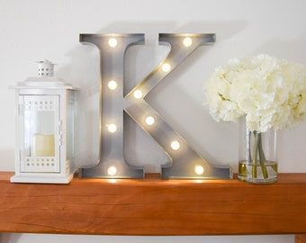 """Greek Letter Lights """"Kappa"""" / Letter Marquee Light """"K"""" / Sorority Marquee Letters / Light up Letters / Sorority Lights / Marquee Signs"""