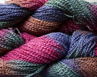Dove, cott/ray stripe, hand dyed yarn, 300 yds - Renaissance