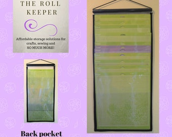 Mat holder for Cricut, Silhouette, Brother and other rotary cutting mats. 3 pocket mat holder holds MULTIPLE mats.