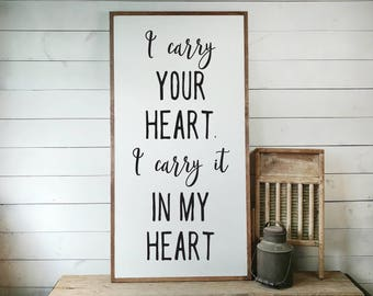 I Carry Your Heart Etsy