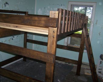 Queen size heavy duty loft bed