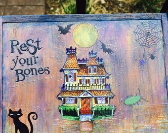 Halloween Decorated Cigar Box