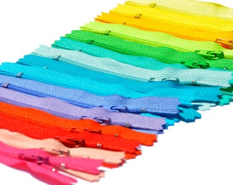 SALE 4 inch - 15 zippers YKK # 3 Skirt  Assortment of Colors  - Closed End~ Color Requests Accepted