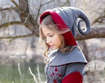 Red Riding Hood Hat woolen headwear chaperone cap