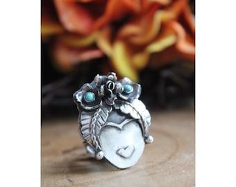 Frida Kahlo Inspired ring