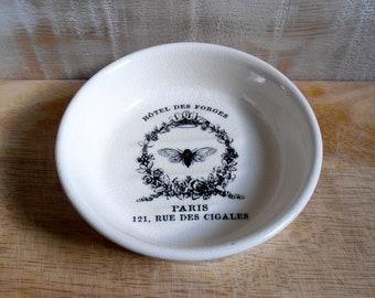 Vintage - Paris - cicada Forges Hotel SOAP - dish ceramic
