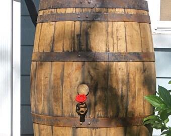 Whiskey / Bourbon Barrel Rain Barrel, 53 Gallon, Used / Upcycled, Food Grade Oak Barrel, FREE SHIPPING!!!