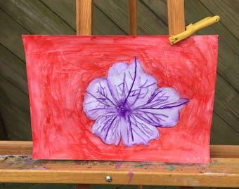 Purple petunia- watercolor on watercolor paper