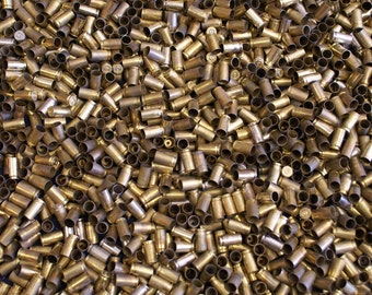 9MM Once Fired Brass 3000 + pieces. Perfect for Jewelry and Crafts. Range Brass, Supplies, Crafting, Steampunk, DIY