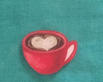 Cup of Coffee/Cappuccino  Acrylic Needle Minder
