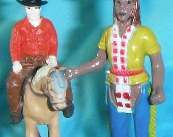 Set of Two ~ Native & Cowboy on Horse Wild West ~ Custom Ceiling Fan Pulls