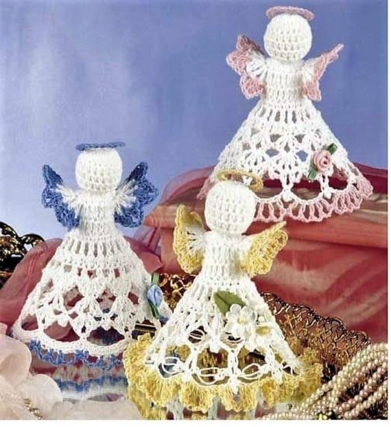 Thread Christmas Tree: Thread Crochet Pattern Christmas Angels Tree Topper