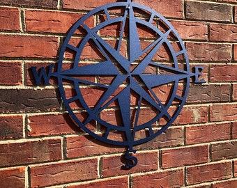 Metal Compass Wall Art-Metal Wall Art/ Wall Hanging/ Compass/