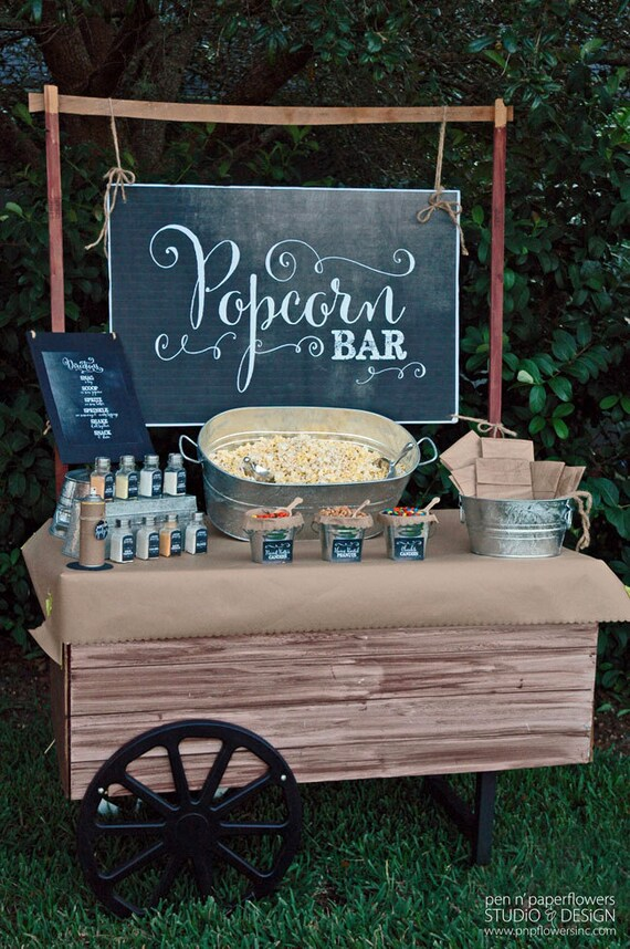 Popcorn bar collection chalkboard edition instant download mightylinksfo